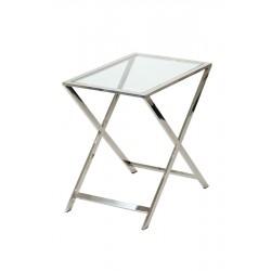 Stolik aluminium-polerowane60x40h60