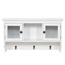 Biała wisząca szafka do kuchni