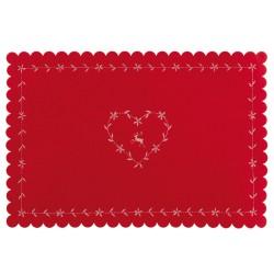 Świąteczna czerwona  podkładka