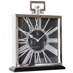 Niklowany zegar z uchwytem New York Black