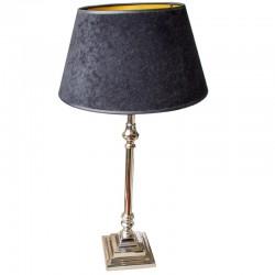 Niklowana lampa stojąca Bedford 48cm