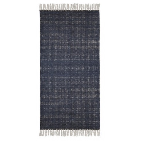 Granatowy pleciony dywan. Melanż 170x230