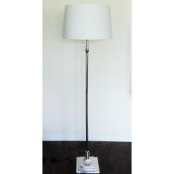 Bedford elegancka niklowana lampa podłogowa