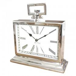 Niklowany zegar z uchwytem New York