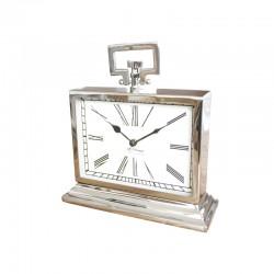 Niklowany zegar z uchwytem New York 24x26