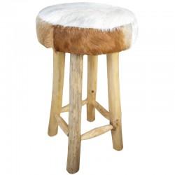 Skandynawski stołek barowy z drewna teak