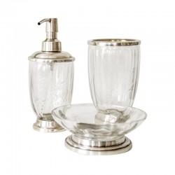 Elegancki szklany zestaw łazienkowy