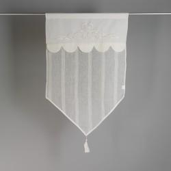 Lniana stylowa zazdroska z haftem 45x70