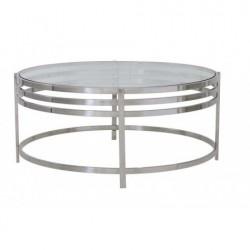 Niklowana okrągła ława stolik Modern New York