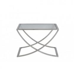 Niklowany szklany stolik kawowy 60X60X40