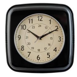 Czarny zegar do jadalni Art Design Quatro