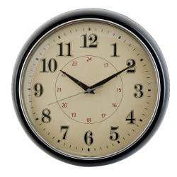 Czarny zegar do jadalni Art Design Round