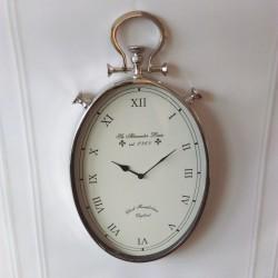 Nikowany wiszacy zegar na ścianę