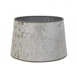 Szaro srebry  Ø 30 welurowy abażur  lampa stołowa