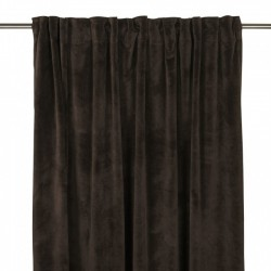 Aksamitna zasłona w kolorze ciemnego brązu