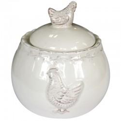 Ceramiczn cukiernica z kurką