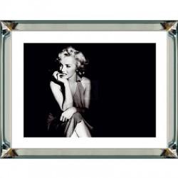 Obraz w lustrznej ramie Stay a While Marilyn Monroe 70x90