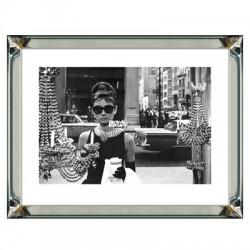 Obraz w lustrznej ramie Audrey Hepburn 70x90