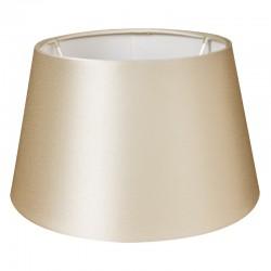Jedwabny abażur lampa stołowa perłowa satyna Ø 30