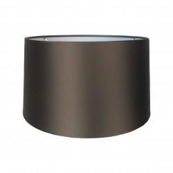Jedwabny,brązowy abażur Ø 35 lampa stołowa