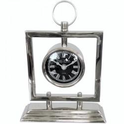 Niklowany zegar stojący New York/Art Deco