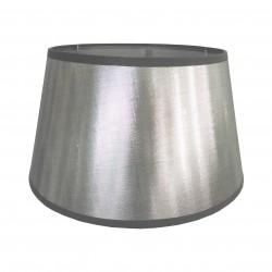 Kinkietowy srebrny abażur Ø 30 błyszcząca tafta