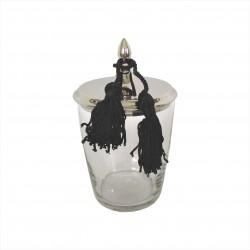 Elegancki szklany pojemnik na waciki