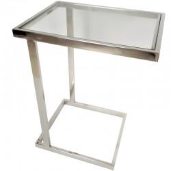 Niklowany stolik do kanapy/boczny