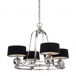 Żyrandol do salonu Modern Classic z czarnymi abażurkami