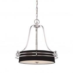 Żyrandol/lampa do salonu Modern Classic z czarnymi abażurem