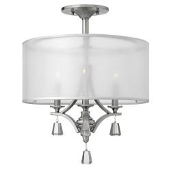 Lampa sufitowa do sypialni New York z kryształkami.