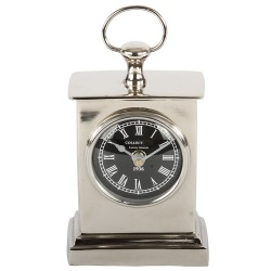 Niklowany zegarek na stolik nocny New York