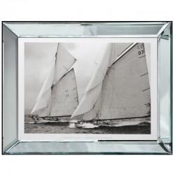Obraz w lustrznej ramie Hamptons and Sailing 70x90