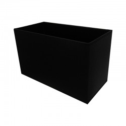 Czarny abażur prostokąt 25x12 lampa stołowa/stojąca modern classic