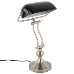 Elegancka czarna lampa biurkowa New York