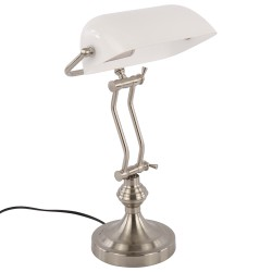 Elegancka  biała lampa biurkowa New York