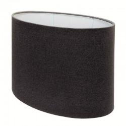 Duży owalny abażur lampa stołowa grafit