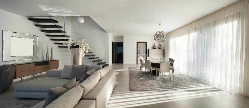 Nowoczesny wystr j okien w salonie inspiracje blog - Appartement moderne design retro widawscy ...