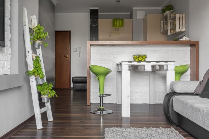 Kuchnia z salonem w stylu skandynawskim Zrób to sam   -> Kuchnia Angielska Z Salonem