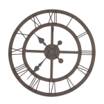 industrialny metalowy zegar