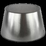srebrny abażur dolampy stojącej