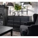 Czarna drewniana komoda z szufladami Elegant Classic