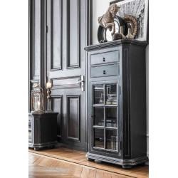 Czarna drewniana witryna do salonu Elegant Classic