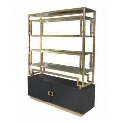 Art Deco luksusowy złoty regał do salonu