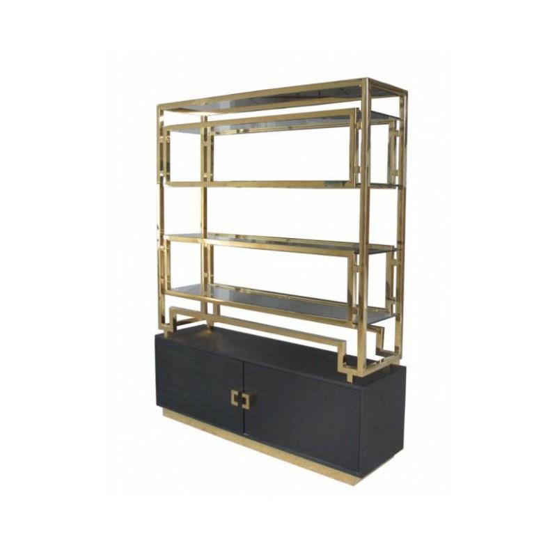 Art Deco luksusowy złoty regał 191X152 do salonu