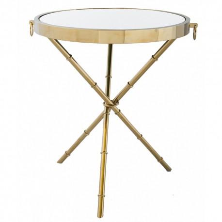 Złoty stolik pomocnik do salonu do sofy fotela