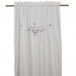 Bawełniana zasłona do sypialni modny wzór kwiatowy