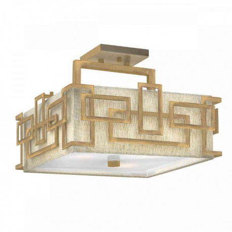 Plafon złoty Art Deco