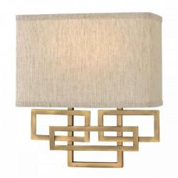 Kinkiet złoty Art Deco