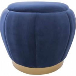 Pufa do siedzenia niebieski welur
